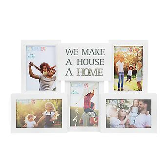 Collage Fotorahmen mit Metallwörtern - Home