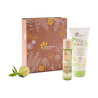 Verbena and bergamot set: perfume l'eau des délices with verbena and bergamot 50ml + perfumed shower gel l'eau des délices 200ml 1 unit