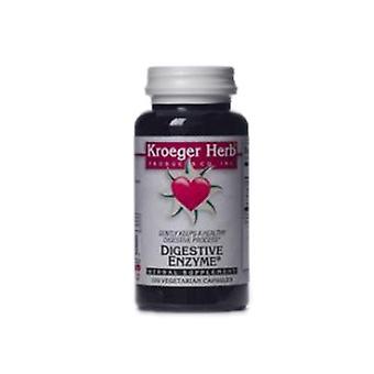 Kroeger Herb Digestive Enzyme, 100 VCaps