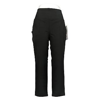 Kvinder med Kontrol Kvinders Petite Pants Mave Control Ankel Sort A381588