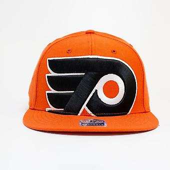 47 Brand Nhl Philadelphia Flyers Orange Large Logo Snapback Cap