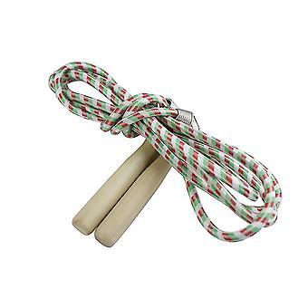 Weven katoenen springtouw overslaan touw fitness boksen overslaan training verstelbare houten handvat enkele of groep spelen touw sport accessoires voor kinderen G