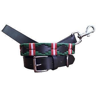 Carlos Díaz genuino collar de cuero perro y plomo conjunto awo37157