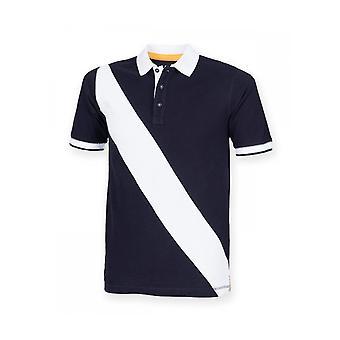 Front Row Diagonal Stripe Pique Polo Shirt FR212