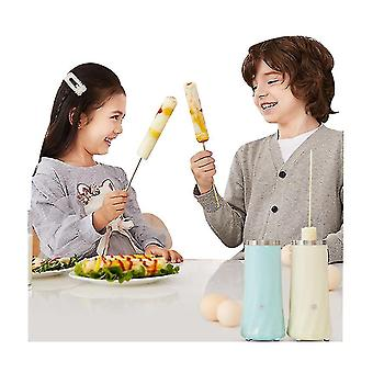 Breakfast Machine Mini Egg Sausage Machine Automatic Household Stainless Steel Egg Roll(Blue)