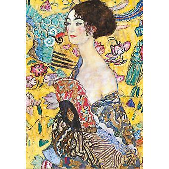 Piatnik Klimt Lady with the Fan Jigsaw Puzzle (1000 Pieces)