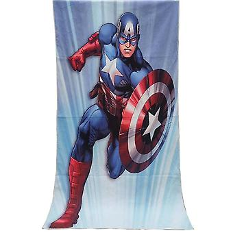 The avengers captain america polyester cartoon adult bath towel children kids large beach towel home textile decor 70x140cm