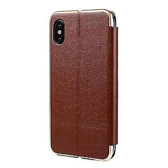 Samsung Galaxy S8 + / S8 Plus Flip Leder Flip Case Cover - braun