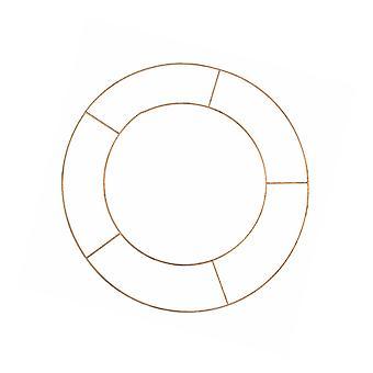 Basic Metal Wire 8in Flat Wreath Ring - Single Floristry Hoop Frame