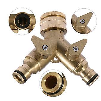 2 Wege Gartenhahn Schlauch Adapter Stecker Messing Adapter Schlauch Rohr Splitter Outdoor