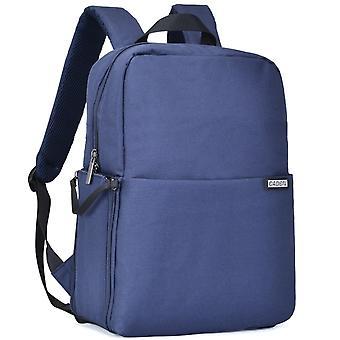 デジタル一眼レフカメラバックパック プロ大型バッグレンズラップトップ屋外旅行バッグ - ディープブルー