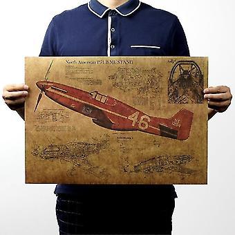 Tijdschriften kranten p15 gevechtsvliegtuig structurele vintage kraft papier poster