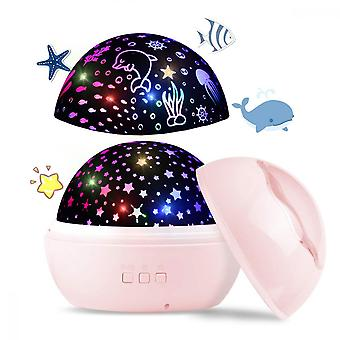 Baby Night Light 2 In 1 Led Star Projector Wave Projector Light Children's Room, Bedroom, Party Birthday
