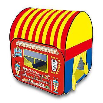 Deti hrajú skladací pop-up stan Detský stan Dom Indoor Princess Castle Malý dezertný stan