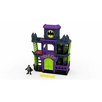 Arkham Asylum Playset with Batman Figure with Dart Launcher for Imaginative Play, Toy and Gift for
