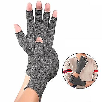 Unisex Cotton Elastic Hand Arthritis Pain Relief Open Fingers Gloves