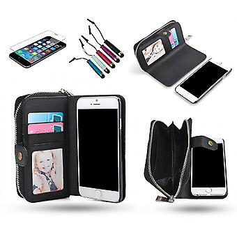 Iphone 6 /6s - Wallet Case & Magnetic Shell + 3 In 1 Package