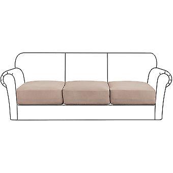Housse de coussin de siège extensible haut protecteur de meuble de canapé avec fond élastique pour 1/2/3 place, sable