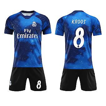 Toni Kroos #8 Jersey Real Madrid CF Fly Emirates Fotboll T-Shirts Jersey Set för barn ungdomar