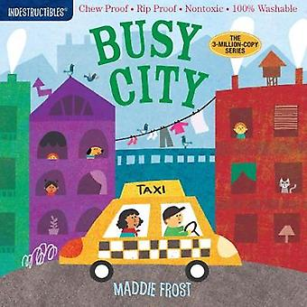 Indestructibles Busy City Chew Proof  Rip Proof  Nontoxic  100 Washable Book for Babies Newborn Books Safe to Chew