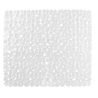 バスマットラグスクエア石畳マットスリップ防止バスタブとシャワーパッド54 * 54cmブラック