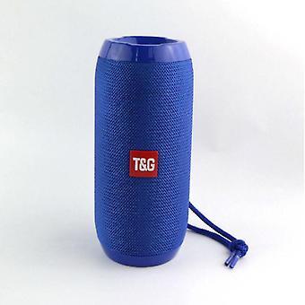 10w tragbarer Bluetooth Outdoor Lautsprecher, wasserdichter drahtloser Player (Blau)