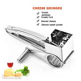 Stainless Steel Cheese Grater Multi-function Kitchen Rotary Planer Cylinders Vegetable Chocolate Cutter Slicer Shredder