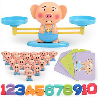 Children's Educational Toys, Learning Mathematics Games, Electronic Balances, Christmas Gifts, Birthday Gifts-(pig)