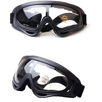 Gafas de seguridad, gafas protectoras antiniebla y protección uv, gafas de protección de seguridad (negro-2pcs)