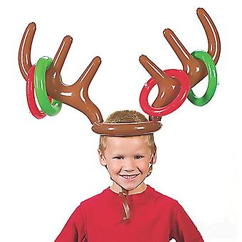 Inflatable Christmas Games, Fun, Wooden Reindeer Hats, Rings, Childrens Christmas Gifts, New Year