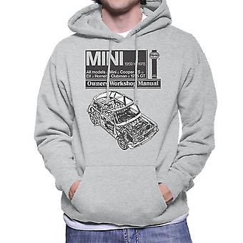 Haynes Workshop Manual Mini 1959 Black Men's Hooded Sweatshirt