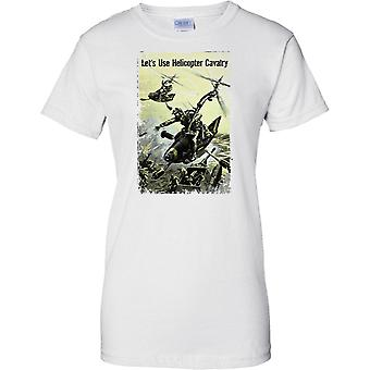 WW2 Propoganda Poster - Lets Use Helicopter cavalry - Ladies T Shirt