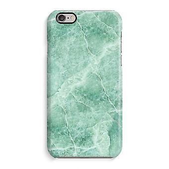 Caso iPhone 6 6s caso 3D (brilhante)-mármore verde