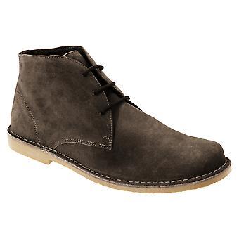 Roamers Mens Real Suede Fulfit Desert Boots