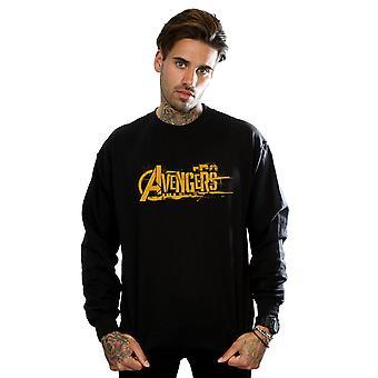 Marvel Men's Avengers Infinity War Orange Logo Sweatshirt
