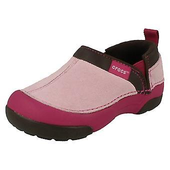 Девочек Crocs случайные плоские скольжения на обувь хитрый Кэмерон