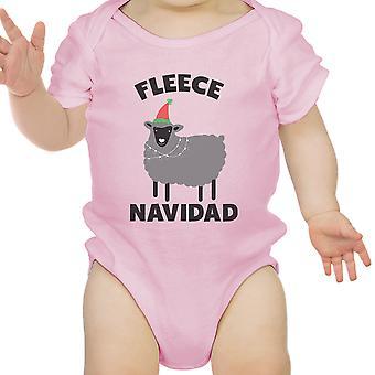 女の赤ちゃんのフリース ナヴィダード最初 X-Mas エプロン ギフト ピンク