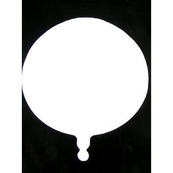 Folie ballon ronde solide metalen wit