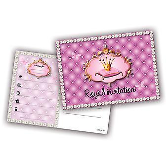 Uitnodiging uitnodigingen prinses kinderen partij uitnodiging kaart verjaardag 6 stuks