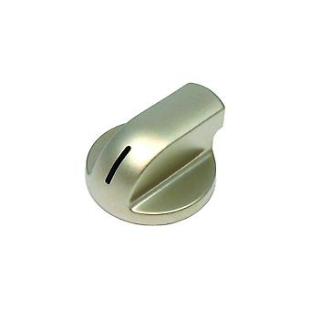 Controle knop zilver