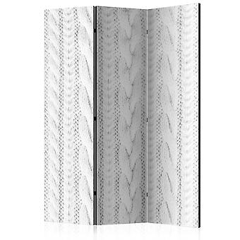 Vouwscherm - White Knit [Room Dividers]