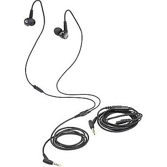 Renkforce GT300 Fones de ouvido no ouvido Headset Black