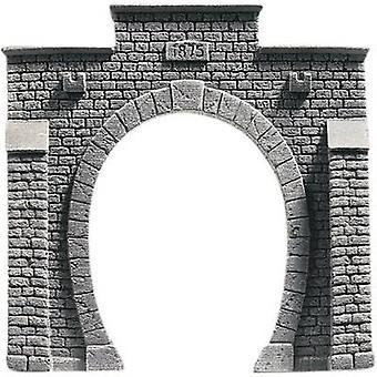 NOCH 34851 PROFI plus N Tunnel portal 1-track HR foam prefab, Painted