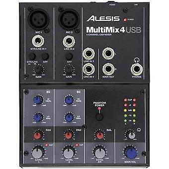 Alesis Multimix 4 USB Mixing console No. of channels:4 USB port