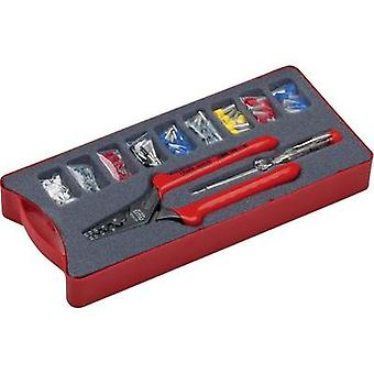 NWS 143-BIS Squeezer set 152-piece Ferrules 0.5 up to 16 mm² Incl. ferrule set, Incl. voltage tester