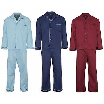 Vêtements de détente Pyjama avant champion Mens bouton (Pack de 3)