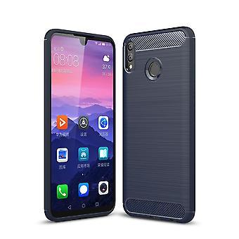 Huawei honor 8 X MAX TPU case carbon fiberoptik børstet beskyttende tilfælde blå