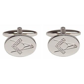 David Van Hagen Masonic mansjettknapper - sølv