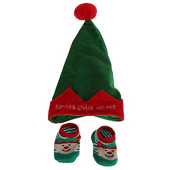 Nursery Time Babys Santas Little Helper Hat And Socks Set