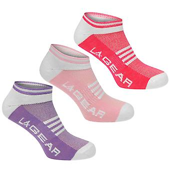 LA Gear Womens Yoga Sock 3 Pack Elasticated Sports Training Accessories